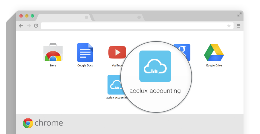 acclux accounting on the chrome store